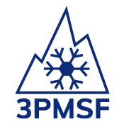 logo de pneumatique three peak mountain snowflake