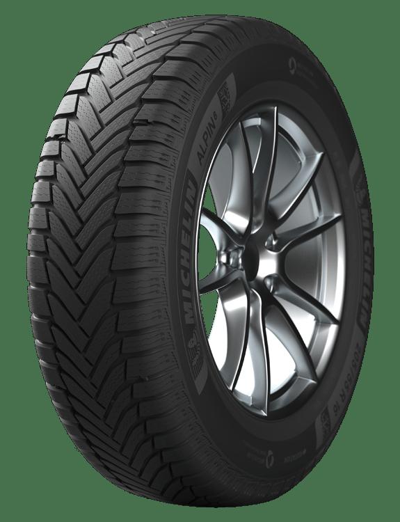 Pneu Hiver Alpin 4 de Michelin présenté de 3/4